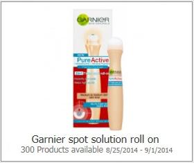 Garnier Spot Solution Roll On Possible FREE Garnier Spot Solution Roll On
