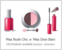 Miss Nude Chic Possible FREE Miss Nude Chic or Diva Glam Product
