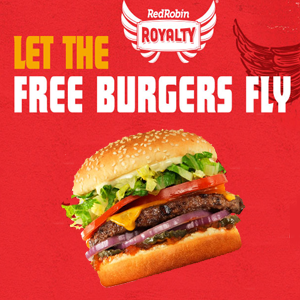 graphic regarding Red Robin Printable Coupons known as Cost-free Burger For the duration of Your Birthday Thirty day period at Purple Robin