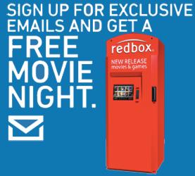 Redbox DVD Rental Email FREE Redbox DVD Rental (Email)