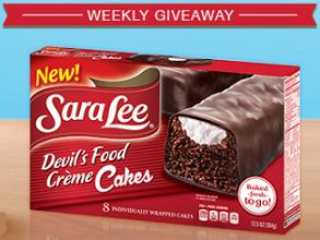 Sara Lee Snacks1 Sara Lee Snacks Prizes Weekly Giveaway