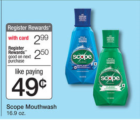 Scope Wags Ad FREE Scope Mouthwash at Walgreens
