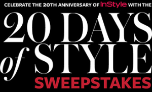 Style Sweepstakes 300x182 INSTYLEs 20 Days of Style Sweepstakes Giveaway