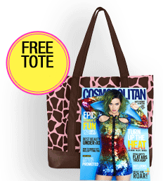 free tote FREE Cosmopolitan 1 Year Magazine Subscription and Tote Bag