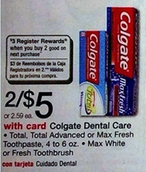 walgreens colgate FREE Colgate Toothpaste at Walgreens (Starting 9/28)