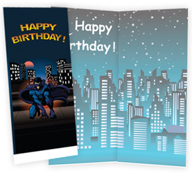 Birthday Superhero Card FREE Custom Greeting Card with FREE Shipping
