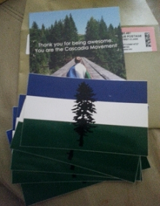 Cascadia Stickers 5 FREE Cascadia Stickers