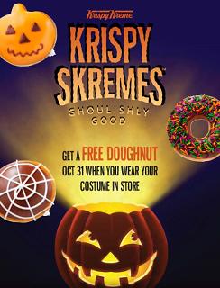 FREE Doughnut of Your Choice at Krispy Kreme FREE Doughnut of Your Choice at Krispy Kreme on 10/31