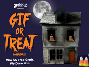 GrubHub Gif or Treat 300x227 GrubHub Gif or Treat Sweepstakes and Instant Win Game