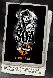Harley Sticker FREE Harley Davidson Sons of Anarchy Sticker