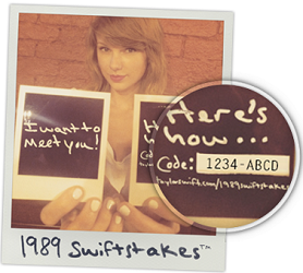 Taylor Swift 1989 SWIFTSTAKES FREE Taylor Swift 1989 SWIFTSTAKES Giveaway