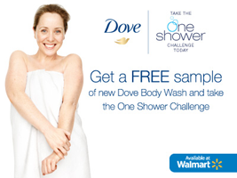 UNI WM DoveDamia Social 1 FREE Dove Body Wash Sample