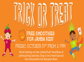 kids Smoothies FREE Smoothie for Kids at Jamba Juice on 10/31