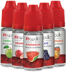 Bottles of E Liquid 2 FREE Bottles of e liquid for Apollo Ecigs