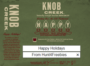 Knob Creek Christmas FREE Knob Creek Liquor Bottle Gift Personalized Labels