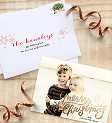 Minted Holiday Foil Pressed Card FREE Minted Holiday Foil Pressed Card Sample