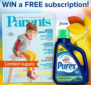 Purex Giveaway NEW FREE Subscription to Parents Magazine of Purex Giveaway