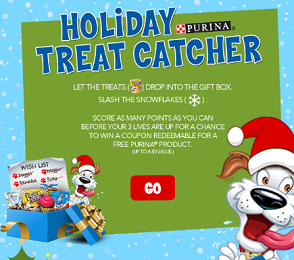 Purina Holiday Dog and Cat Treats Purina Holiday Dog and Cat Treats Instant Win Game (25,000 Prizes)