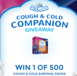 Scotties Cough Cold Survival Pack 300x294 FREE Scotties Cough & Cold Survival Pack Giveaway
