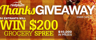 ThanksGiveaway Sweepstakes RedPlum Gift Card ThanksGiveaway Sweepstakes