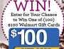 Wal-Mart Gift Card Giveaway