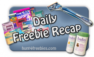 Daily Recap1311115 FREE Stuff Recap For the Last Couple Of Days