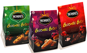 Nonnis Holiday Biscotti Bites FREE Box of Nonni's Biscotti Holiday Giveaway