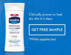 Vaseline2 300x231 FREE Full Size Vaseline Intensive Care Lotion Sample