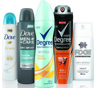 Dry Spray Antiperspirant Samples