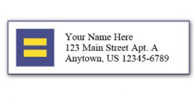Human Rights Campaign Address Labels
