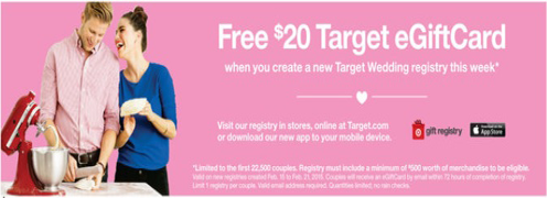 FREE $20 Target Gift Card for Wedding Registry (Today) - Hunt4Freebies