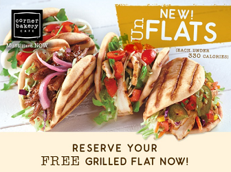 Grilled Flat at Corner Bakery Cafe