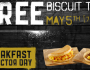 FREE Biscuit Taco at Taco Bell