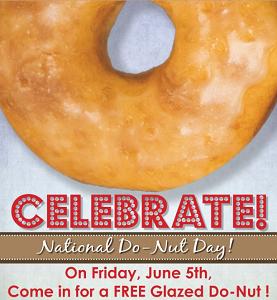 FREE Glazed Do-Nut at Shipley Donuts