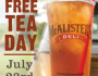 FREE Glass of McAlisters Tea