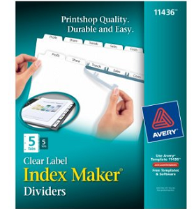 Avery Index Dividers and Label Strip