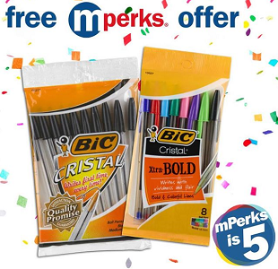 FREE Bic Cristal Pens At Meijer