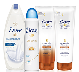 FREE Dove Shampoo and Conditioner and Dry Spray Deodorant - Hunt4Freebies