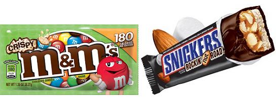 MMs Crispy Bag Snickers Rockin Nut Road Bar