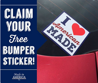 I Love American Made Bumper Sticker