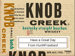 Knob Creek Liquor Bottle Gift Personalized Labels