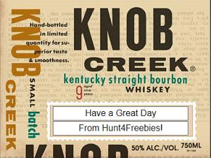 Knob Creek Liquor Bottle Gift Personalized Labels