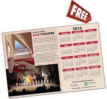 2016 Alley Theatre Calendar