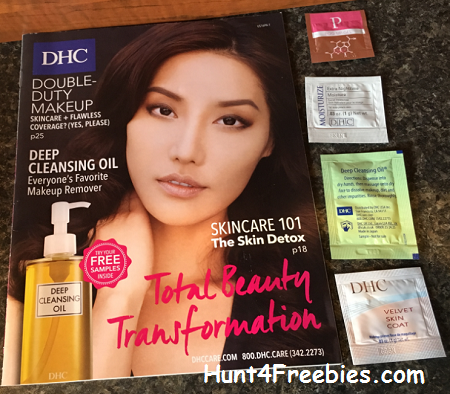 FREE Beauty Samples Inside the FREE DHC Catalog1