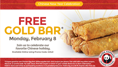 FREE Chicken Egg Roll at Panda