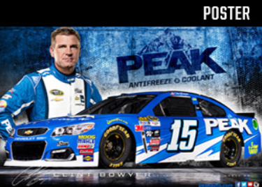 Clint Bowyer PEAK 15 Race Car Poster