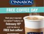 FREE Coffee at Cinnabon