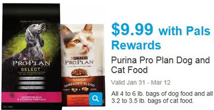 New Petco Printable coupon: 5/1 Purina Pro Plan cat or dog ...