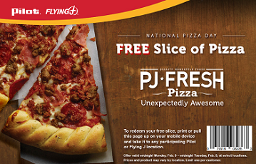 FREE Slice of Pizza at Pilot Flying J Travel Center