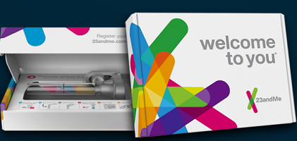 DNA Genetics Testing Kit from 23andMe